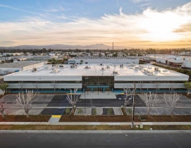 A transitional homeless shelter in Santa Ana, Calif., built by C.W. Driver Companies