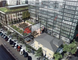 A rendering of the retail and restaurant space at Parks & Market