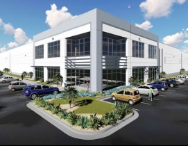 A rendering of the exterior of Ridge Development's forthcoming speculative industrial building
