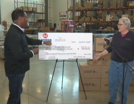 Check for $500,000 to Greater Pittsburgh Community Food Bank