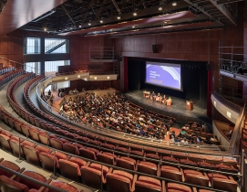 City Tech auditorium with people
