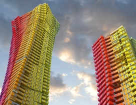 Architects propose shipping container tower to replace slums