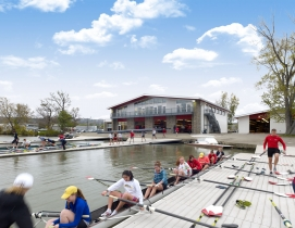 Cornell University rowing has been transformed into a waterfront campus destination. Photo courtesy HGA
