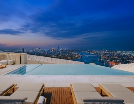 Infinity pool atop Brooklyn Point high rise