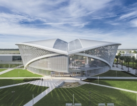 Embry-Riddle's new student union, shaped like birds in flight