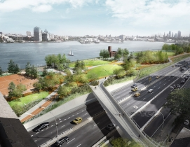A rendering of the East Coast Resiliency Project