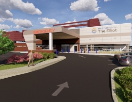 Rendering of expansion to Elliot Hospital's Emergency Department