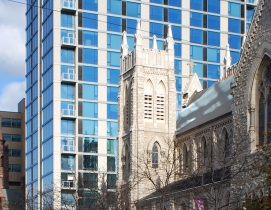 Office building and multifamily tower revitalize Philadelphia cathedral