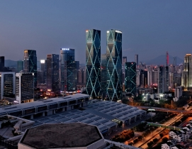 Excellence Huanggang Century Center, Shenzhen, China by Leo A Daly. Photo: Court
