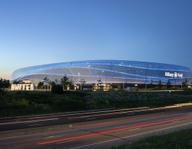 Allianz Field exterior at night