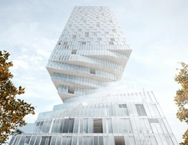 MVRDV designs twisty skyscraper to grace Vienna's skyline