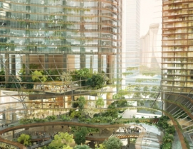 Architects propose residential tower in Singapore with gardens on every floor