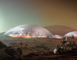 Mars Science City prototype exterior by BIG