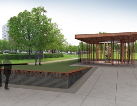 The 6,000-square-foot Minnesota Fallen Firefighters Memorial incorporates severa