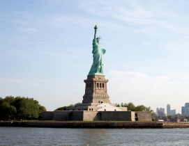 A yearlong renovation effort at Liberty Island involved inserting two staircases