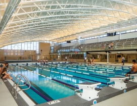 Special features of the new competition pool at Niles North High School include
