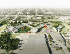 Starchitecture meets agriculture: OMA unveils design for Kentucky community farming facility