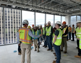 Hourgian Construction and VT students