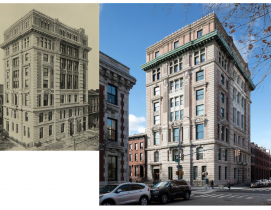 Polhemus Clinic in 1897, Polhemus Residences today