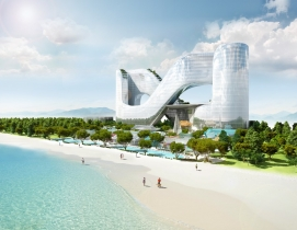 Figure-eight shaped hotel to open around PyeongChang 2018 Winter Olympics Facility