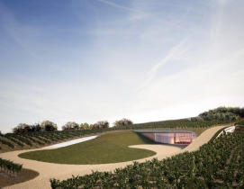 The winery built into the hill