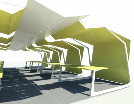 The winning design by Bart Shaw, AIA. Rendering courtesy of AIA.