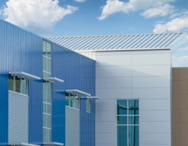 Aluminum cladding on the exterior of a building