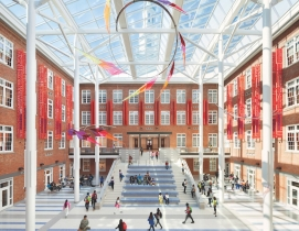 The Roosevelt Senior High School atrium