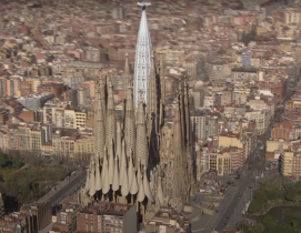 Rendering of the completed Sagrada Familia