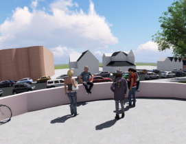 Virtual reality walkthrough of the new Somerville High School in Sommerville, Mass. It was designed by SMMA, Inc.