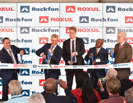 Rockfon factory in Marshall County, Miss., officially inaugurated