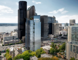 SCB's first project in Seattle is a contemporary 27-story condominium tower at 615 Eighth Avenue on First Hill.