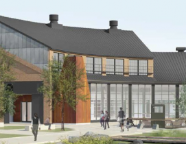 The Roundhouse, a 19th-century train engine repair building, is being transformed into an innovation center.