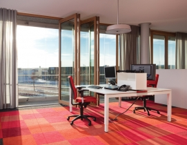 To naturally heat the perimeter at Solarluxs new administration building in the
