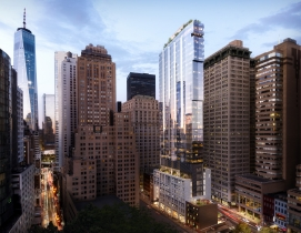 77 Greenwich project, New York. Architectural design by FXCollaborative, rendering by Binyan Studios
