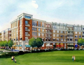 The Village will work with HSA to design and construct a mixed-use, pedestrian-o