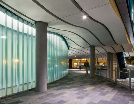 Channel glass exterior faade. Photo: Technical Glass Products/NBBJ