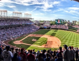 Wrigley Field in Chicago, Illinois