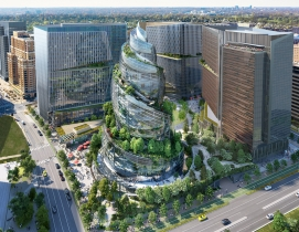 The Helix, one of three buildings planned for Amazon's Virginia HQs.