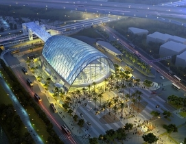 The Anaheim (Calif.) Regional Transportation Intermodal Center, designed by HOK,
