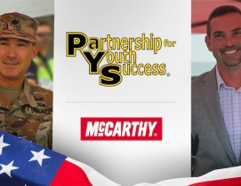 McCarthy's CEO Ray Sedey (right) and the Army's Lt. Col. Samuel Jungman