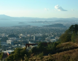View of Berkeley and Bay from Claremont Canyon. Photo: Urban via Wikimedia Commo