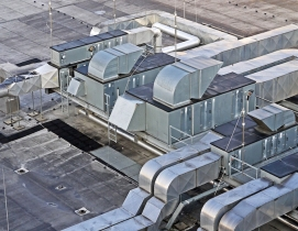 Duct work on top of a buidling