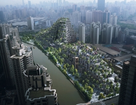 """""""Tree-covered mountains"""" planned for urban Shanghai"""