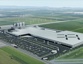 Faraday Future's hanford EV facility