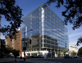 The 260,000-sf 901 K Street building is among the green offices in Washington, D