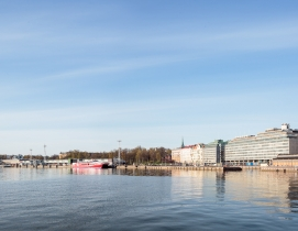 Waterfront view including the competition site from the Market Square, looking s
