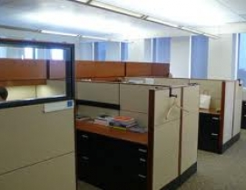 Today, just 24% of the respondents reported that the average space per office wo