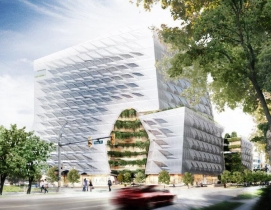 Rendering of lululemon's Vancouver HQ by Morphosis
