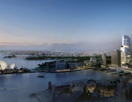 The 200-meter mixed-use high-rise will be located near Jrn Utzon's iconic Opera